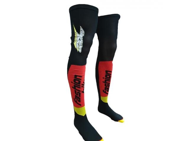 CALZA SIXS FASHIONBIKE LUNGA MOT S KNEE - BLACK RED YELLOW
