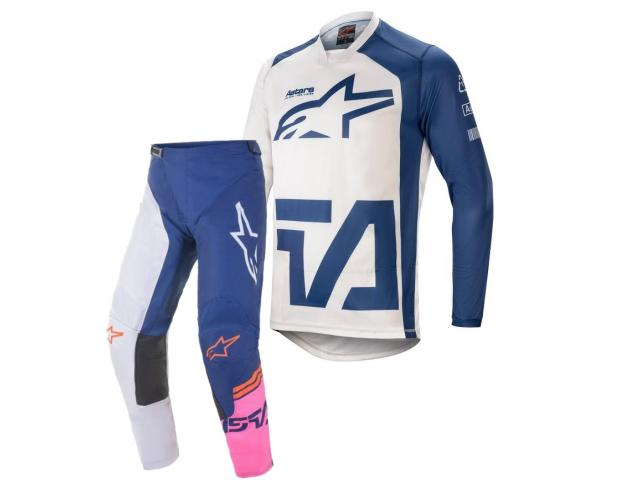 COMPLETO RACER COMPASS GEAR OFF WHITE NAVY PINK FLUO MX21