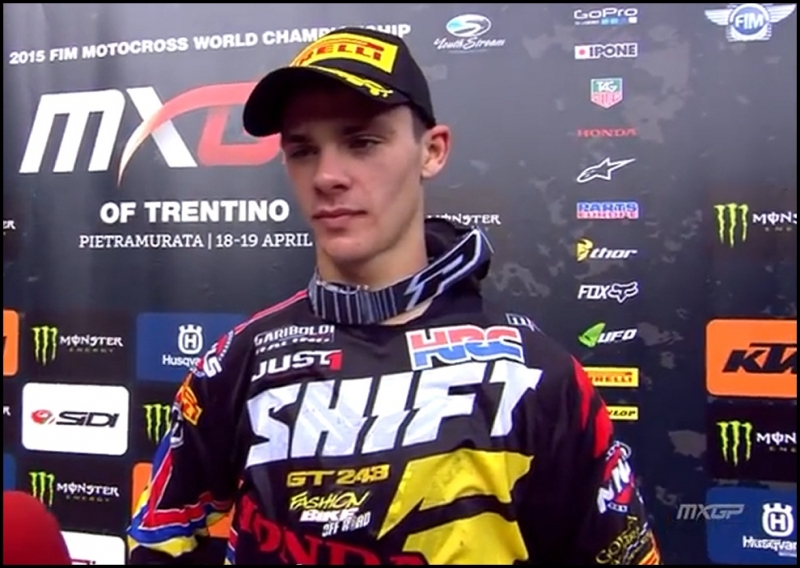 Vittoria Tim Gajser, Team Gariboldi, sponsored by Fashionbike