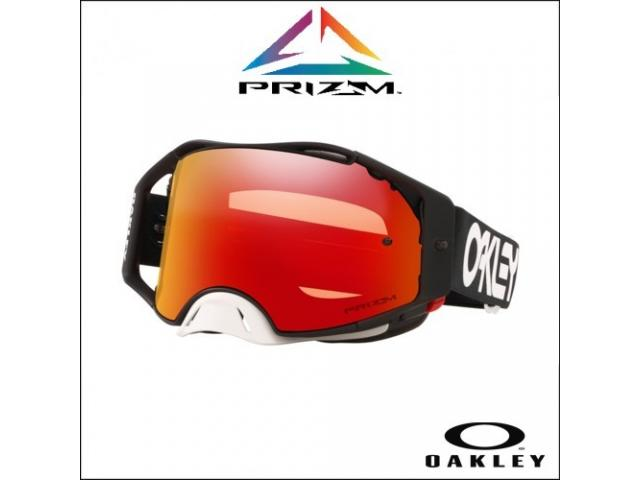 OAKLEY AIRBRAKE MX FACTORY PILOT BLACK - LENTE PRIZM MX TORCH