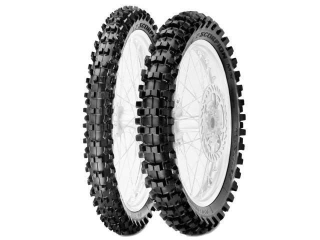 COPPIA PIRELLI SCORPION MID SOFT 80/100-12  + 60/100-14