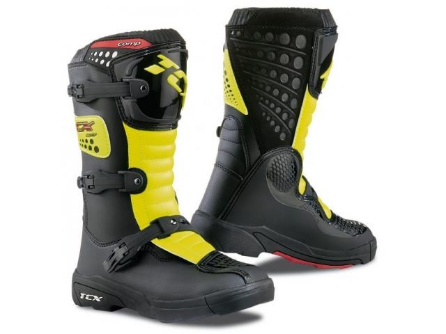 STIVALE COMP KID BLACK/YELLOW FLUO