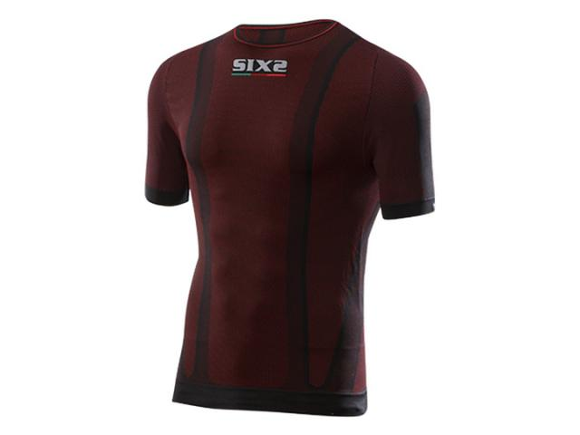 GIROCOLLO MANICHE CORTE TS1 CARBON UNDERWEAR - DARK RED