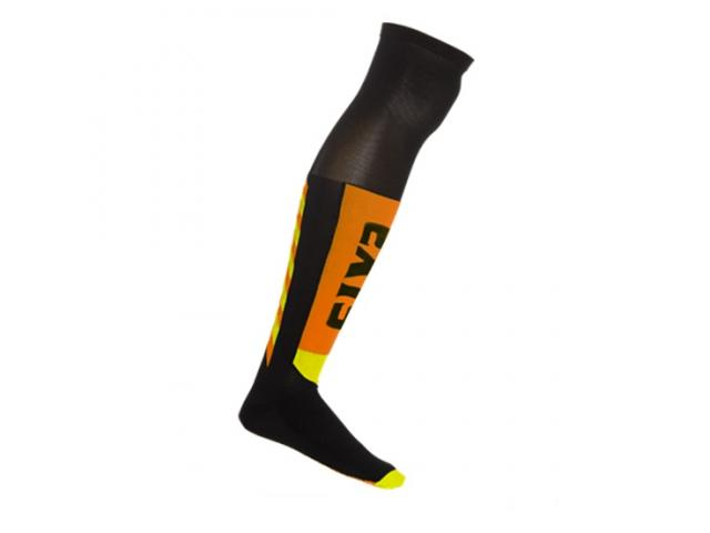 CALZA LUNGA MOT S KNEE - BLACK-ORANGE