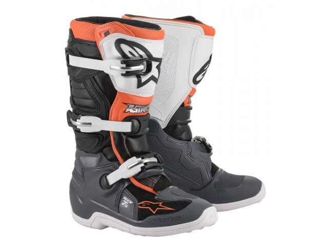 STIVALE TECH 7S BLACK GRAY WHITE ORANGE FLUO