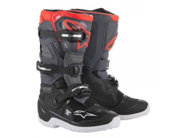 STIVALE TECH 7S BLACK DARK GRAY RED FLUO