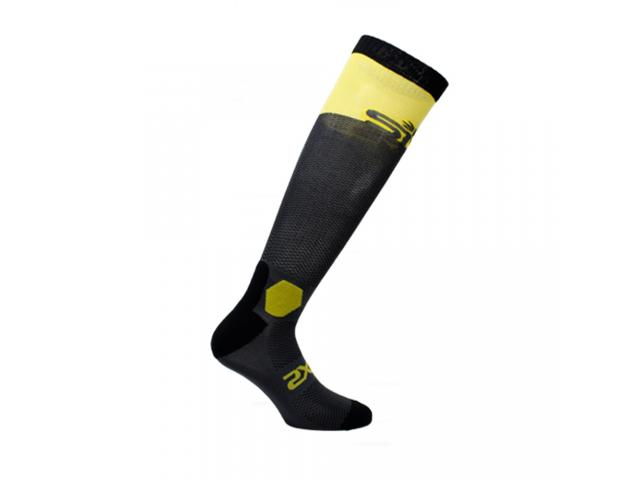 CALZA LUNGA RINFORZATA LONG RACING DARK GREY-YELLOW