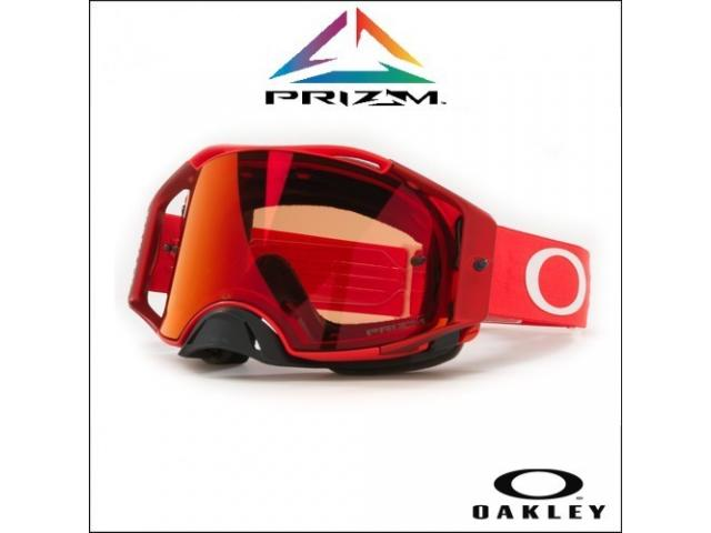 OAKLEY AIRBRAKE MX MOTO RED - LENTE PRIZM TORCH IRIDIUM