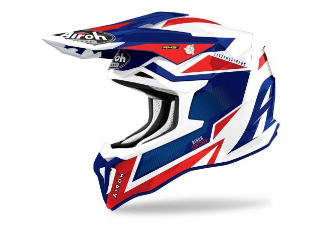 CASCO AIROH STRYCKER AXE BLUE RED 2021