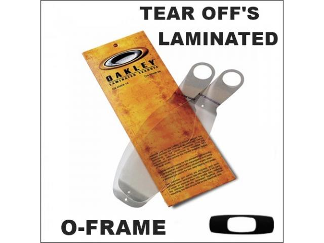 OAKLEY TEAR OFF'S LAMINATED OFRAME 14 PZ.